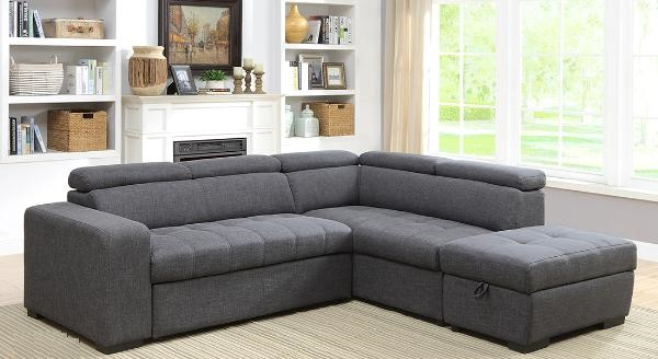 9318 Sofa Bed Sectional With Storage Ottoman Pricepro Grocery And Furniture In Surrey Bc