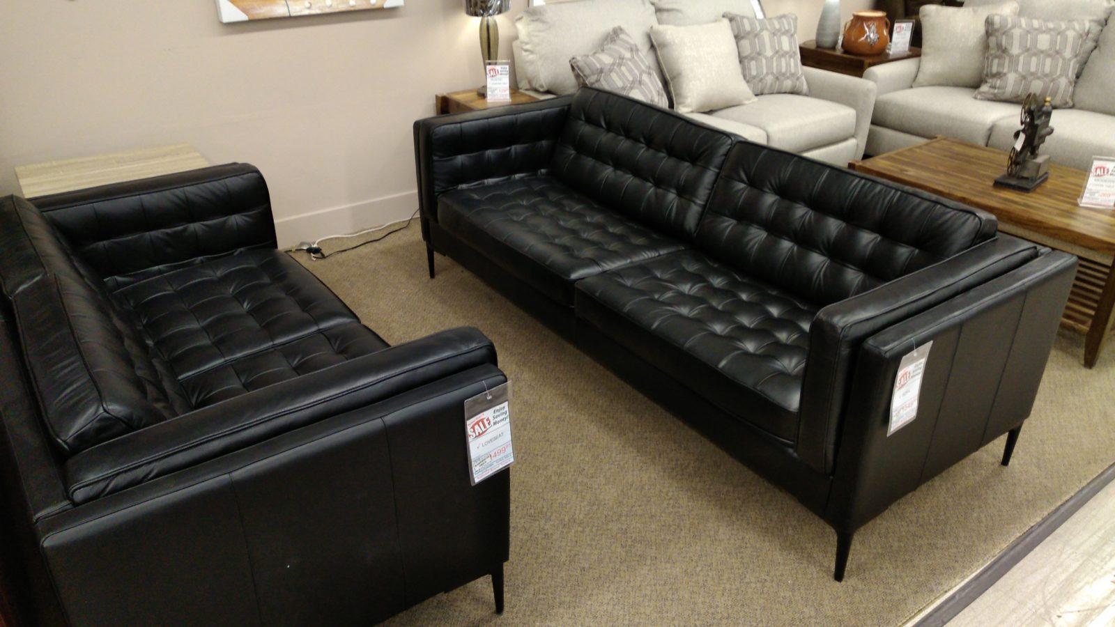 Stylus Sofa 10119 Loveseat Sofa Accent Black Pricepro
