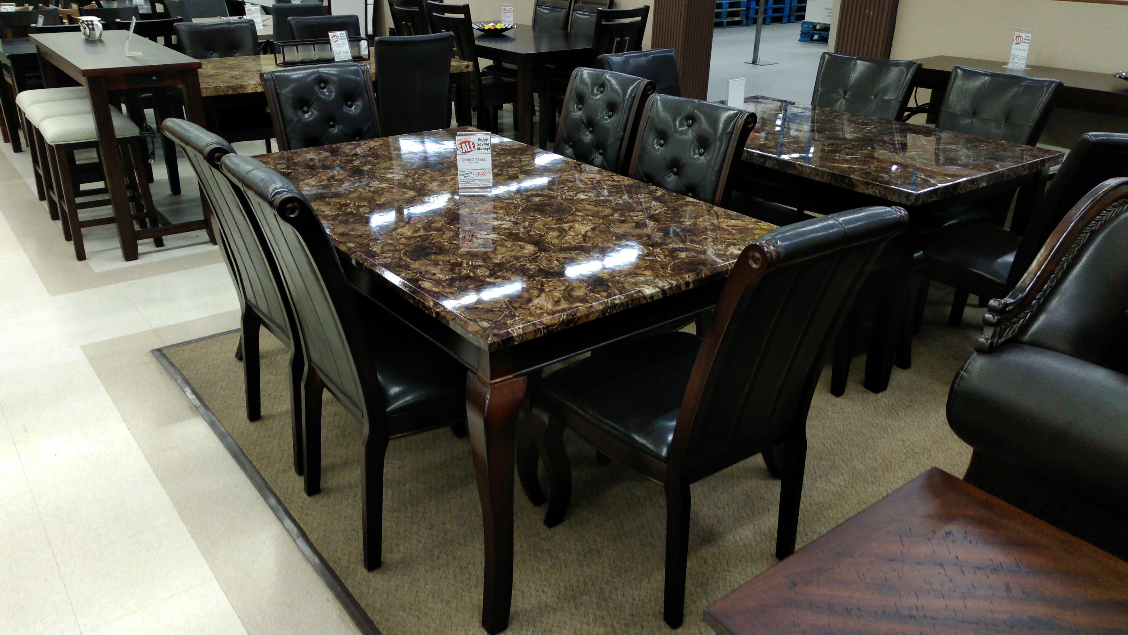 2027 Marble Table With 6 Chairs Pricepro Grocery And Furniture Store In Surrey Bc